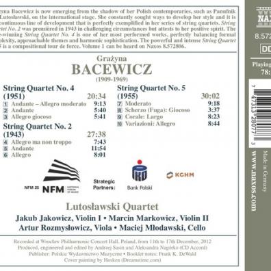Grazyna Bacewicz (Гражина Бацевич): String Quartets • 2: Nos. 2, 4 And 5