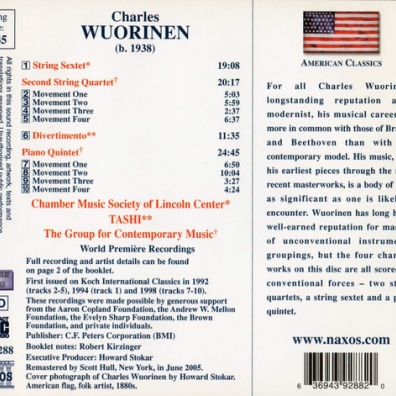 Charles Wuorinen (Чарльз Вуоринен): String Sextet / String Quartet No 2