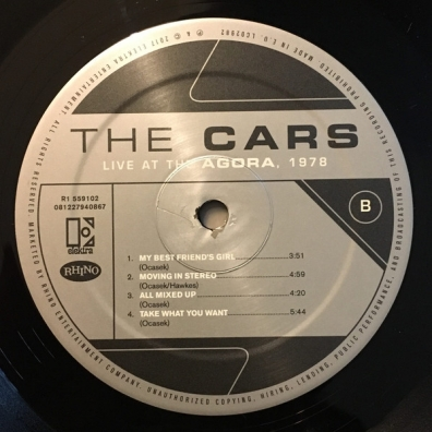 The Cars: Live At The Agora 1978