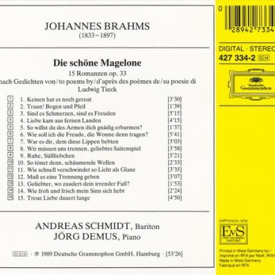 Andreas Schmidt (Андреас Шмидт): Brahms: Die Schone Magelone