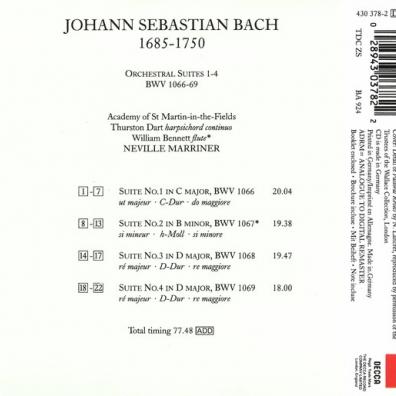 Neville Marriner (Невилл Марринер): Bach: Suites 1-4