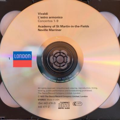 Neville Marriner (Невилл Марринер): Vivaldi: L'Estro Armonico