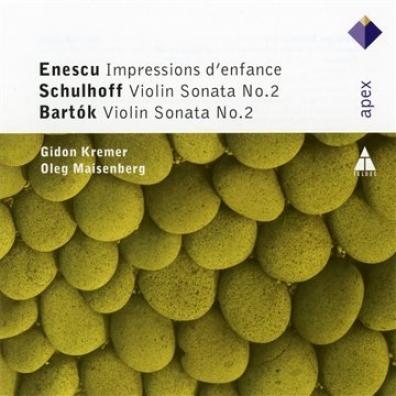 Sonatas For Violin And Piano: Bartok, Enescu, Plakidis ,Schulhoff